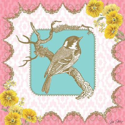 Victorian Details - Bird on Branch | Canvas Wall Art-Canvas Wall Art-Jack and Jill Boutique