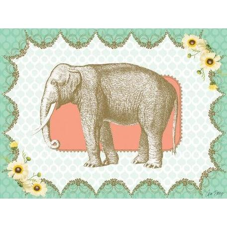Victorian Details - Elephant | Canvas Wall Art-Canvas Wall Art-Jack and Jill Boutique