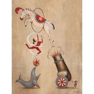 Vintage Circus Cannon | Canvas Wall Art-Canvas Wall Art-Jack and Jill Boutique