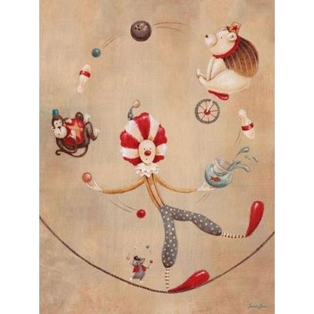 Vintage Circus Clown | Canvas Wall Art-Canvas Wall Art-Jack and Jill Boutique