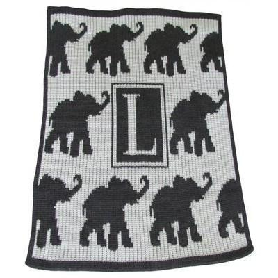 Walking Elephants Stroller Blanket or Baby Blanket-Baby Blanket-Jack and Jill Boutique