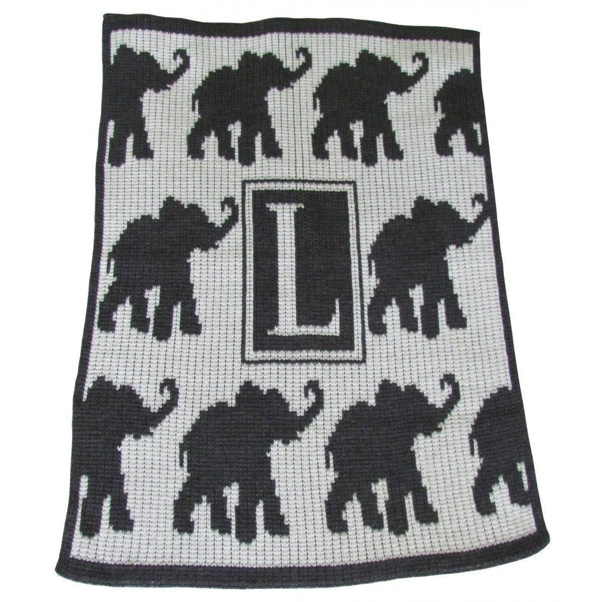 Walking Elephants Personalized Blanket - Stroller, Crib, Throw and XL sizes-Baby Blanket-Jack and Jill Boutique