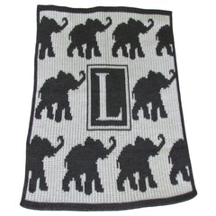 Walking Elephants Personalized Blanket - Stroller, Crib, Throw and XL sizes-Baby Blanket-Butterscotch Blankees-Jack and Jill Boutique