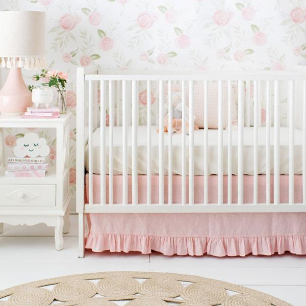 Blush Pink Crib Bedding Set-Crib Bedding Set-Jack and Jill Boutique