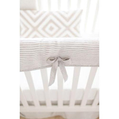 Washed Linen in Ecru Stripe Baby Bedding Set-Crib Bedding Set-Default-Jack and Jill Boutique