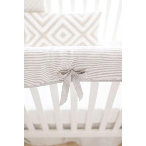 Washed Linen in Ecru Stripe Baby Bedding Set-Crib Bedding Set-New Arrivals-Jack and Jill Boutique