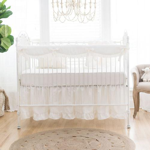 Genial Washed Linen In Ivory Baby Bedding Set