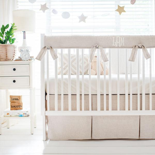 OTHER COLORS AVAILABLE Custom Solid Color Embroidered Crib Rail Cover