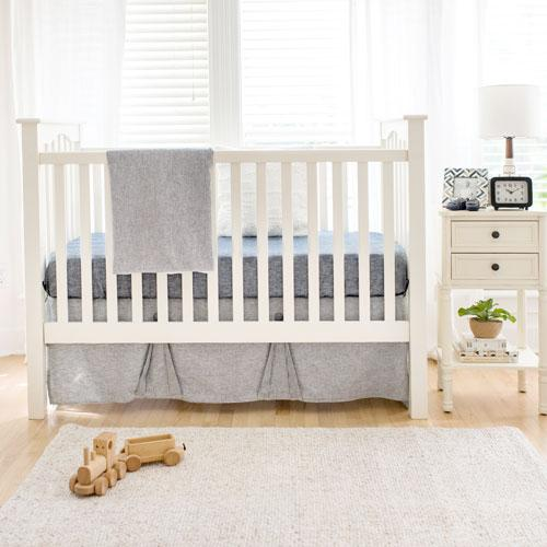 Navy Blue Crib Bedding Set-Crib Bedding Set-Jack and Jill Boutique