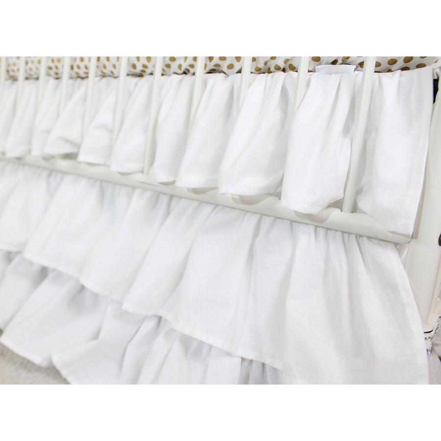 Waterfall Ruffle 3 Tier Skirt | White Cloud Nursery-Crib Skirt-Default-Jack and Jill Boutique