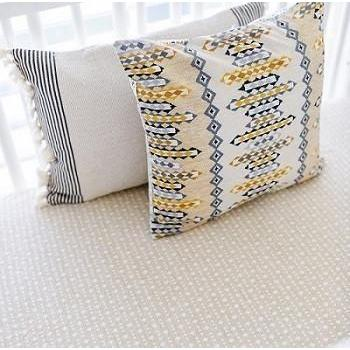Weave it Alone in Citron Crib Sheet | Aztec Navajo in Gold Crib Baby Bedding Set-Crib Sheets-Default-Jack and Jill Boutique