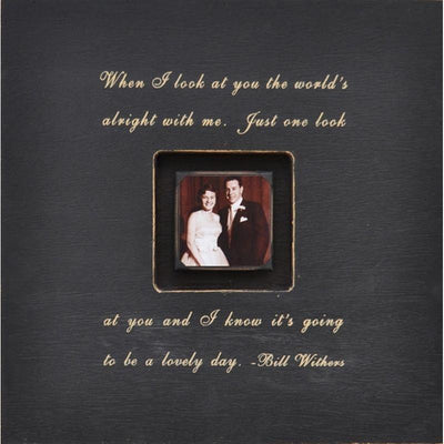 "Handmade Wood Photobox with quote ""When I Look at You""-Photoboxes-Default-Jack and Jill Boutique"