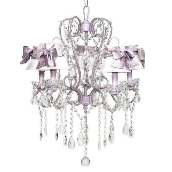 Whimsical Lavender 20-Inch Five Light Chandelier-Chandeliers-Default-Jack and Jill Boutique