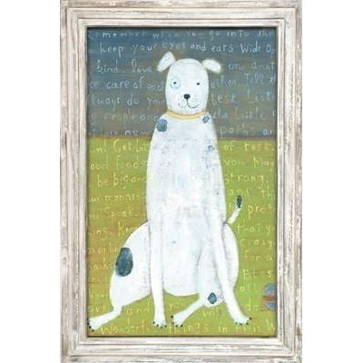 ART PRINT - White Boy Dog-Art Print-35x46-Jack and Jill Boutique