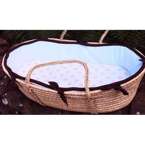 White Collection Moses Basket With Choice of Piping Color-Moses Basket-Default-Jack and Jill Boutique
