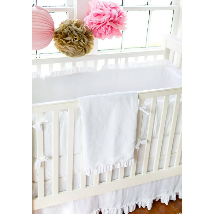 White Linen Madison Avenue Baby Bedding Set