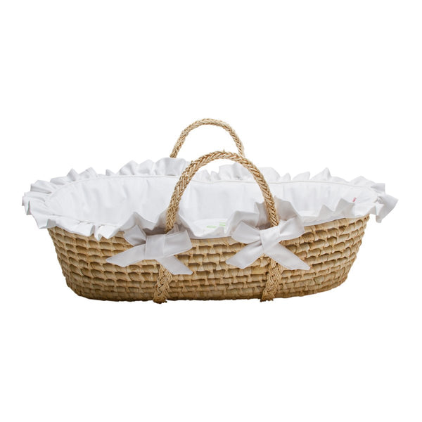 White Pique Moses Basket Jack And Jill Boutique