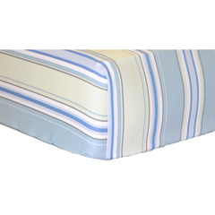 White Pique with Blue Trim Baby Bedding Set-Crib Bedding Set-New Arrivals-Jack and Jill Boutique