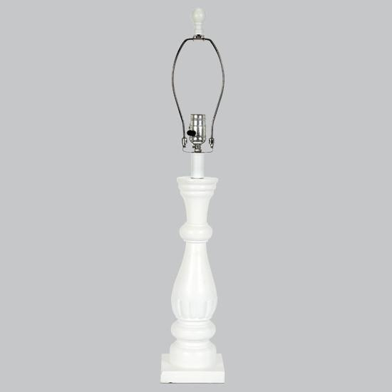 White Shabby Chic Lamp Base