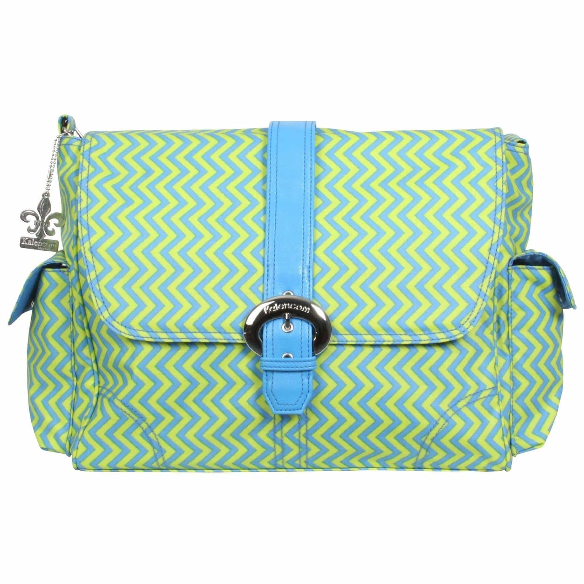 Wiggly Stripes - Beach Matte Coated Buckle Diaper Bag | Style 2960 - Kalencom-Diaper Bags-Jack and Jill Boutique
