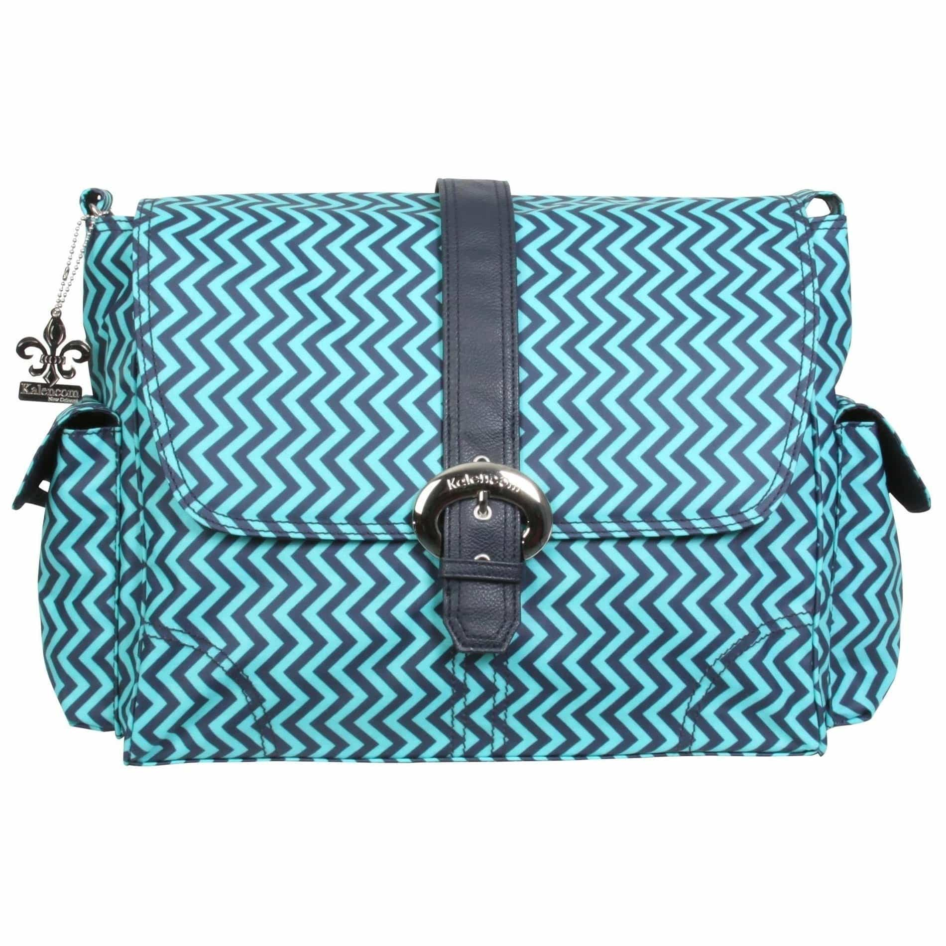 Wiggly Stripes - Ocean Matte Coated Buckle Diaper Bag | Style 2960 - Kalencom-Diaper Bags-Jack and Jill Boutique