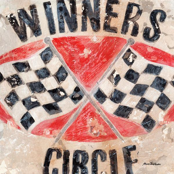 Winner's Circle Flags | Racing Art Collection | Canvas Art Prints-Canvas Wall Art-Jack and Jill Boutique
