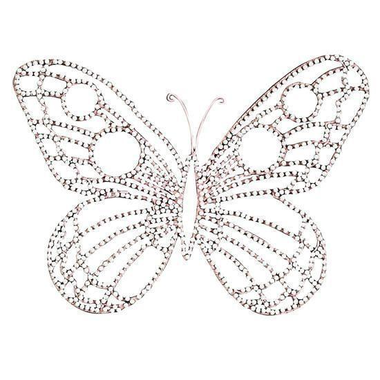 Wire Beaded Butterfly - Medium (Set of 2)