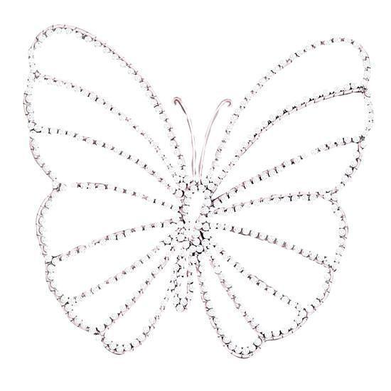Wire Beaded Butterfly - Small  (Set of 3)