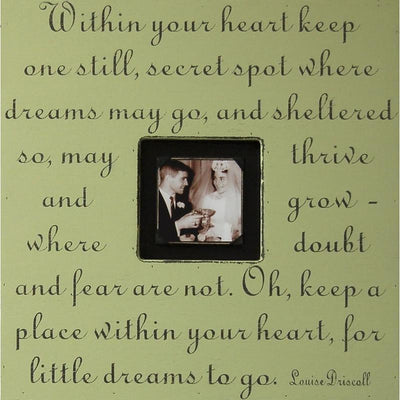 "Handmade Wood Photobox with quote ""Within Your Heart""-Photoboxes-Default-Jack and Jill Boutique"