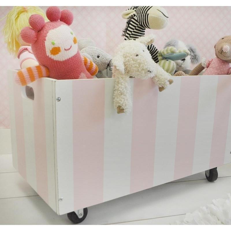 Wooden Toy Crate in Pink