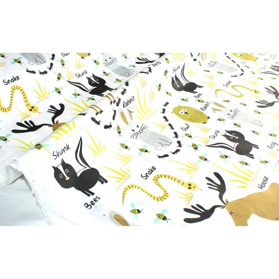Woodland Animals Fabric By The Yard
