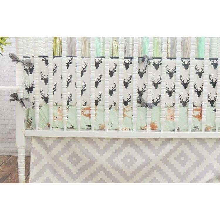 Woodland Baby Bedding | Black, Gray Crib Bedding Set-Crib Bedding Set-Jack and Jill Boutique