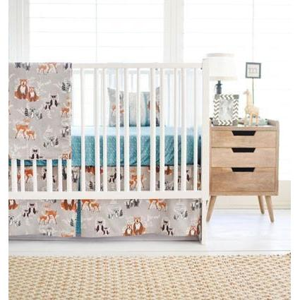 Woodland Oh Hello Fog Baby Bedding Set-Crib Bedding Set-Default-Jack and Jill Boutique
