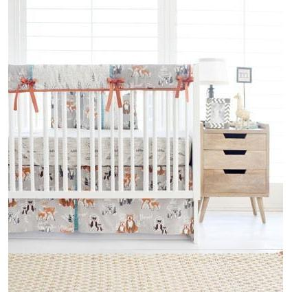 Woodland Oh Hello Fog Baby Bedding Set-Crib Bedding Set-Jack and Jill Boutique