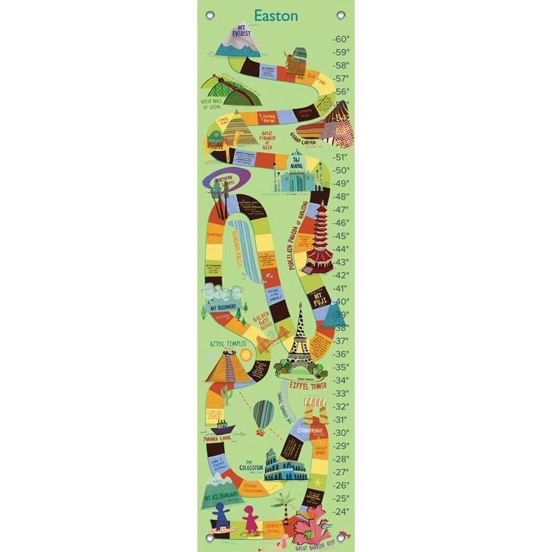 World Wonders - Green Growth Charts-Growth Charts-Default-Jack and Jill Boutique