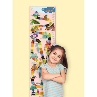 World Wonders - Pink Growth Charts-Growth Charts-Default-Jack and Jill Boutique