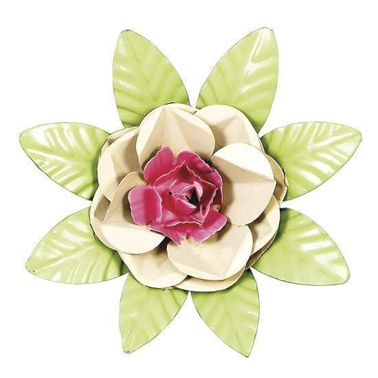 XL Flower Magnet - Tan & Bright Pink Center-Magnets and Magnet Boards-Default-Jack and Jill Boutique