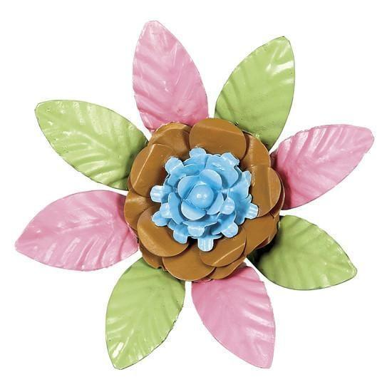 XL Flower Magnet - Turquoise & Gold Center-Magnets and Magnet Boards-Default-Jack and Jill Boutique