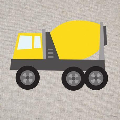 Yellow Cement Mixer | Canvas Wall Art-Canvas Wall Art-Jack and Jill Boutique
