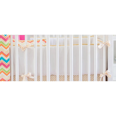 Yellow & Pink Chevron Sunnyside Up Baby Bedding Set-Crib Bedding Set-Default-Jack and Jill Boutique