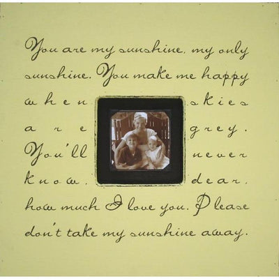 "Handmade Wood Photobox with quote ""You Are My Sunshine""-Photoboxes-Default-Jack and Jill Boutique"