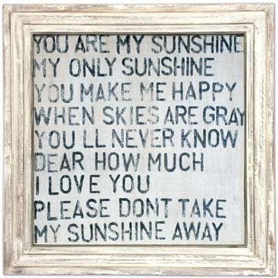 ART PRINT - You Are My Sunshine Vintage-Art Print-24x24-White Wash-Jack and Jill Boutique