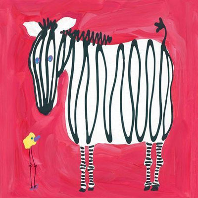 Zebra & Bird | Canvas Wall Art-Canvas Wall Art-Jack and Jill Boutique