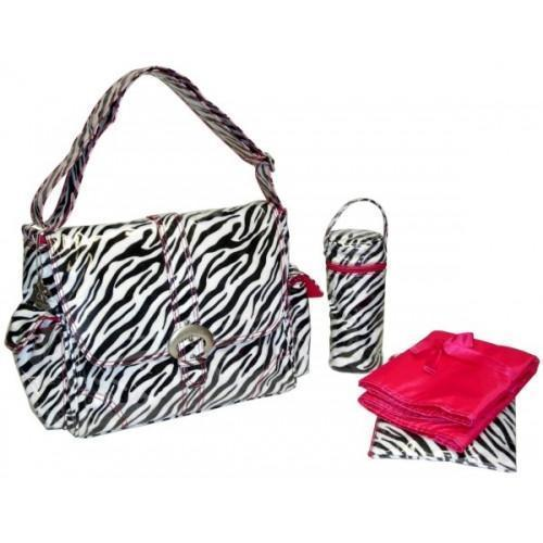 Zebra - Black / White A Step Above Diaper Bag-Diaper Bags-Default-Jack and Jill Boutique