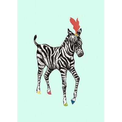 Zebra Prance | Canvas Wall Art-Canvas Wall Art-Jack and Jill Boutique