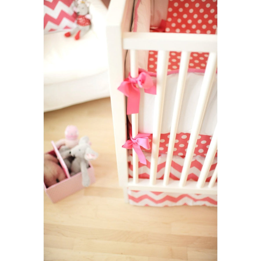 Zig Zag Baby in Hot Pink Baby Bedding Set