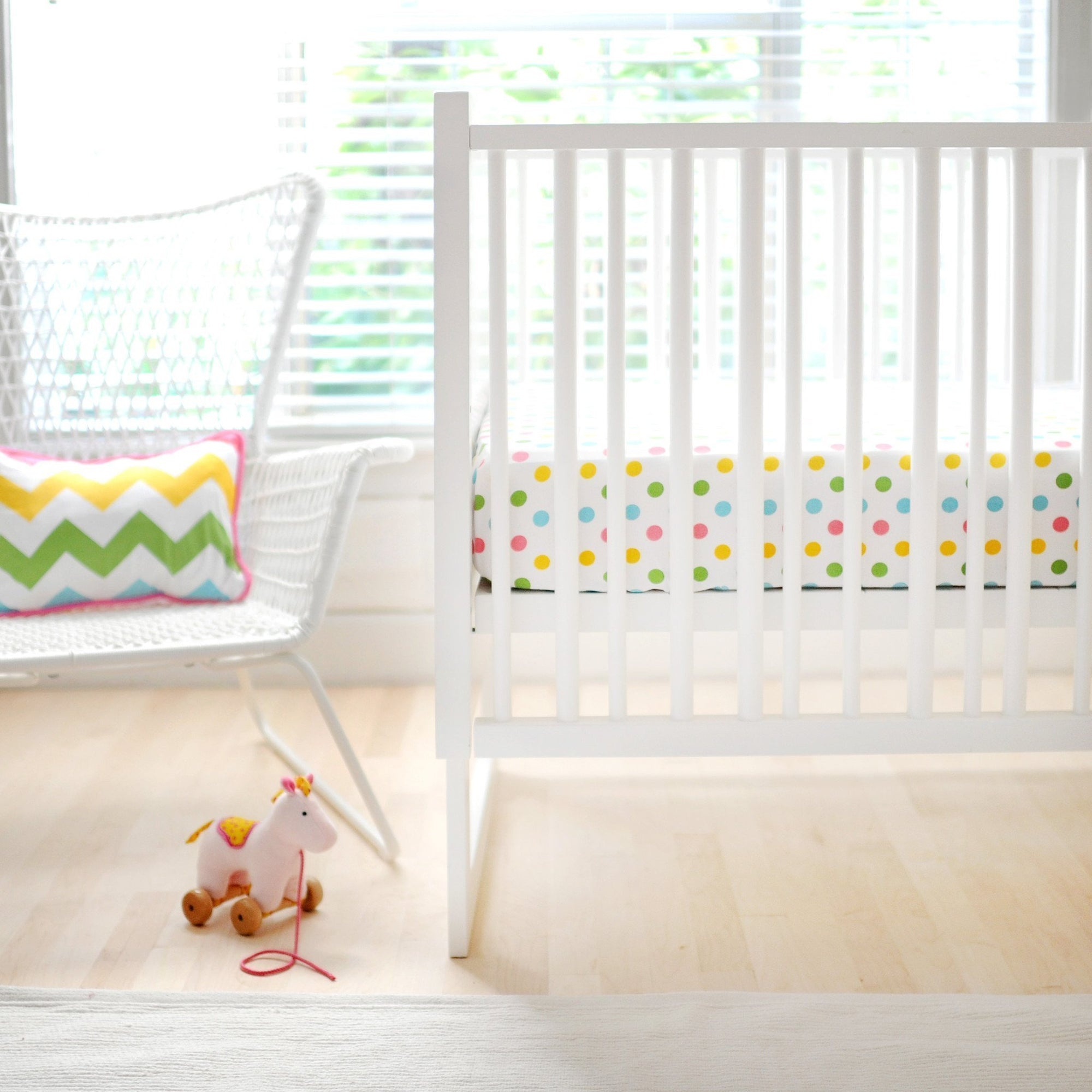 Zig Zag Baby in Rainbow Baby Bedding Set-Crib Bedding Set-Jack and Jill Boutique