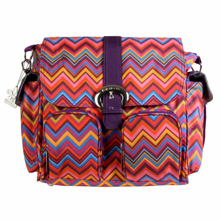 Zigzag - Multicolor Matte Coated Double Duty Diaper Bag | Style 2991 - Kalencom-Diaper Bags-Default-Jack and Jill Boutique