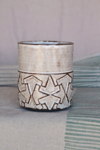 Handmade cup with islamic pattern