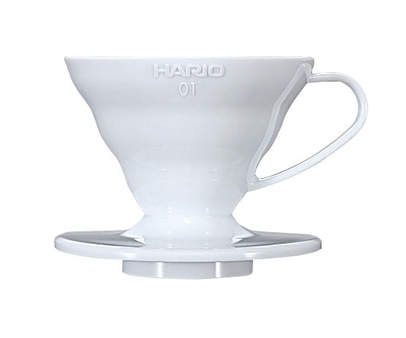 V60 01 Hario Coffee Dripper Acrílico (Blanco)